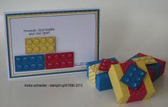 Lego Karte und Verpackung (mit Envelope Punch Biard)