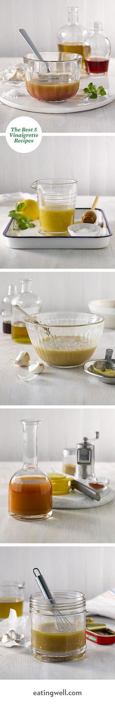 Put down the bottle and make your own dressing with these easy healthy homemade salad dressings.