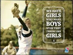 Female Fastpitch Ads - The NPF Softball Played Hard Campaign Shows Girls Playing Better than Boys (GALLERY)
