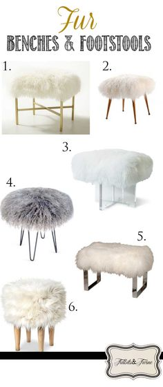 Inspired: Fur Stools & Benches Tidbits&Twine - Ideas and Inspiration for decorating with faux fur stools and benches!Tidbits&Twine - Ideas and Inspiration for decorating with faux fur stools and benches! Diy Zimmer, Home And Deco, New Room, Room Inspiration, Home Projects, Diy Furniture, Furniture Design, Home Accessories, Diy Home Decor