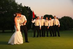 Bride and groom golf course Northern Virginia | Whysall Photography
