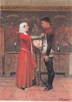 Du Guesclin et Tiphaine Raguenel - Rousselot