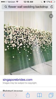 Love this flower wall!  Maybe at the cocktail hour or as the back drop for the photo booth