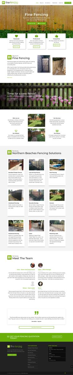 Fine Fencing offers amazing fencing solutions to the Northern Beaches, the North Shore and surrounding areas. Meet The Team, Fence, Amazing, Projects, Blue Prints, Tile Projects
