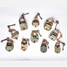 Love locks and keys... Brass Lock now featured on Fab.