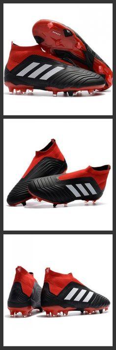ff131596fbdb0 Adidas Predator 18+ FG - Tacchetti da Calcio Nero Rosso Binaco