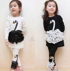 Swan Suits For Girl Clothes Buy Children Clothing Whole Sale Kids Wear 2013 New Hot Selling Producitons-in Clothing Sets from Apparel & Acce. Fashion News, Kids Fashion, Kids Wear, Outfit Sets, Little Girls, Kids Outfits, Ballet Skirt, T Shirts For Women, Children Clothing