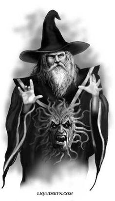 Free Wizard | FREE WIZARD TATTOO DESIGNS - Free Tattoo Designs