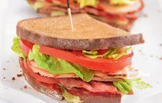 Je compose mon sandwich - Chez Mimi on cuisine WW Ma Pizza, Sandwiches, C'est Bon, Quiche, Pizza, Pickles, Cherry Tomatoes, Rye Bread, Chicken Schnitzel