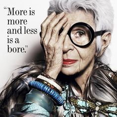 All hail the matriarch of personal style, Iris Apfel, who is 94 years young today. #styleicon #wordstoliveby