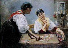 """La Cartomancienne"" by Emile A. Vintage Photography, Art Photography, True Tarot, Fortune Telling Cards, Mystical World, Black Magic Woman, Fortune Teller, Tarot Readers, Historical Art"