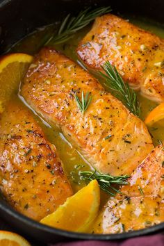 Orange Glazed Salmon Recipe With Rosemary Cooking Classy. Salmon With Orange Fennel Sauce Recipe MyRecipes. Salmon Dishes, Fish Dishes, Seafood Dishes, Clean Eating Recipes, Healthy Dinner Recipes, Healthy Eating, Cooking Recipes, Fish Recipes, Seafood Recipes