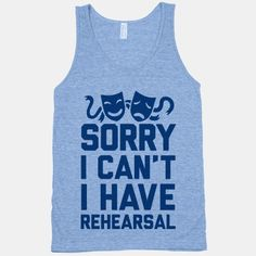 Sorry I can't I have Rehearsal