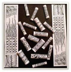 Xplore & Xpress: Zentangle Challenge #91 by KNM.  visit link to see ideas on how paper beads were created