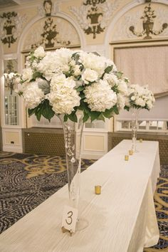 All white wedding ce