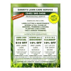 Free lawn care advertising flyers and templates: printable ready ...
