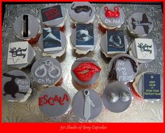 #50shadesofgrey Cupcakes!  My client asked for a variety of 50 Shades of Grey Cupcakes...here they are C/O @itsacakething www.facebook.com/itsacakethingwoodbridge