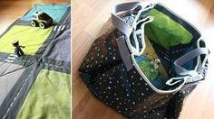 Bonne idée pour un sac pique-nique se transformant en nappe!