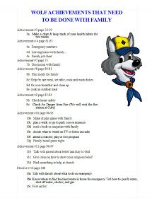 Akela's Council Cub Scout Leader Training: PRINTABLE  EDITABLE Wolf Achievements That Need To Be Done With The Family