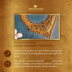 Gold Jewellery Design, Gold Jewelry, Contemporary Wedding Jewellery, Showcase Design, Temple Jewellery, Wholesale Jewelry, Flute, Indian Jewelry, Crochet Necklace