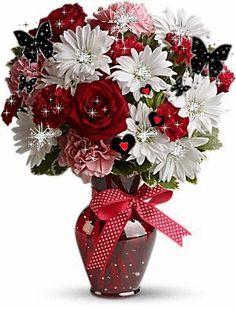 Self (Family-comedy- Sanskrit slokaala telugu vachassu)) Flowers Gif, Love Flowers, Beautiful Flowers Pictures, Beautiful Roses, Flower Images, Flower Pictures, Nature Gif, Glitter Graphics, Valentine Wreath