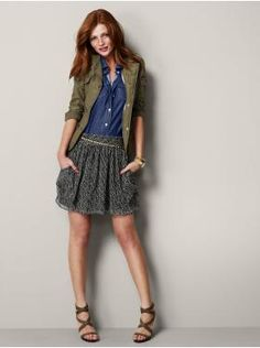 The Utility Jacket & Flutter Skirt