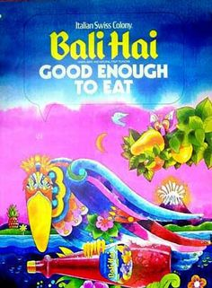 Bali Hai vintage travel poster Indonesia