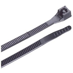 Gardner Bender 46-311UVBFZ GB Xtreme Temp Cold Weather Cable Tie Performs from -40 to 185-Degree F with 50-Pound Tensile Strength, 11-Inch, Black, 100-Pack