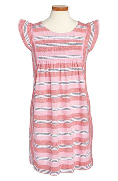 Tea Collection 'Jardin' Stripe Dress (Little Girls & Big Girls) | Nordstrom