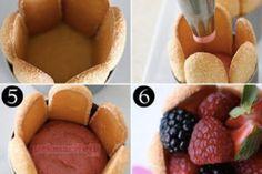 Kedi dili bisküvi ile mini pastalar yapımı