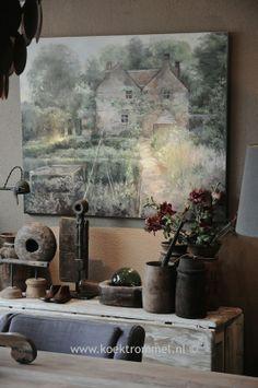 oud huis met gemengde tuin