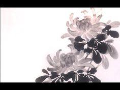 Chrysanthemum sumi-e painting - 菊 -