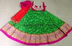 Brasso Half Sari for Kids - Indian Dresses