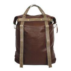 Tall Weekender Bag in Brown Leather | SPENCER DEVINE