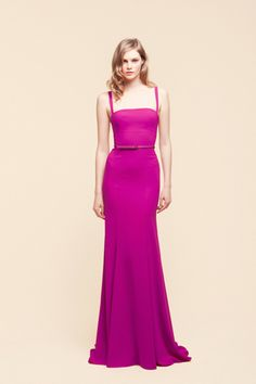 Elie Saab Vogue Fuschia Dress Fashion