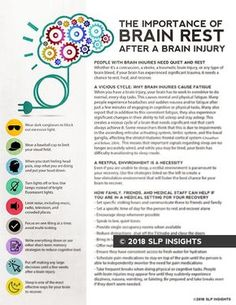 The importance of brain rest after a brain injury - SLP Insights - Therapy Fix Brain Injury Recovery, Brain Injury Awareness, Stroke Recovery, Surgery Recovery, Tramatic Brain Injury, Chemo Brain, Post Concussion Syndrome, Brain Aneurysm, Brain Health