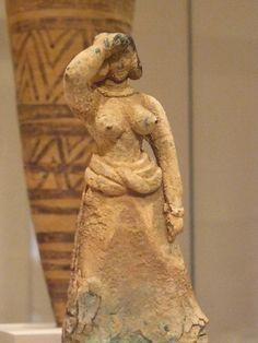 Bronze female figure Cretan Late Minoan I 1600-1450 CE | Flickr - Photo Sharing!