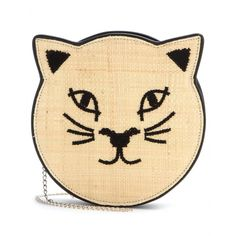 Pussycat Raffia And Leather Clutch ✽ 000922 : mytheresa