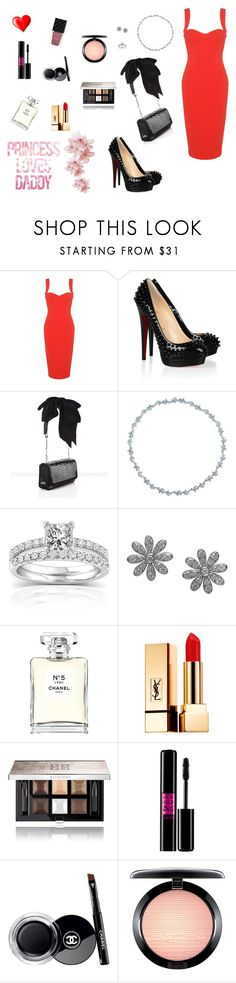 """""""RM's girl - Announcing the engagement to the Armys..."""" by raven-costa on Polyvore featuring moda, Victoria Beckham, Christian Louboutin, Tiffany & Co., Annello, Chanel, Yves Saint Laurent, Givenchy, Lancôme e MAC Cosmetics"""
