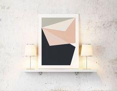 Abstract Geometric Wall Art Prints | Geometric Wall Art | Xavier & Me | Contemporary Art. Design Gifts. Ideas. | Everything Begins
