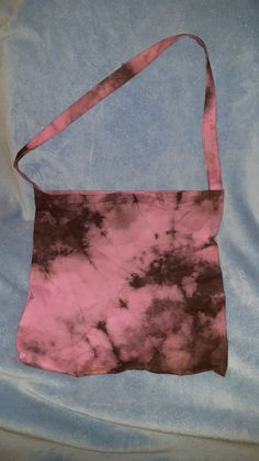 Pink and Black Tie Dye Tote Large by PeasthePrincess on Etsy