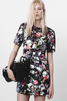 McQ Alexander McQueen | Resort 2015 Collection  FLOWER PRINT WITH CIGARETTE BUTTS, CRUSHED WATER BOTTLES - MIXING NICE WITH NASTY
