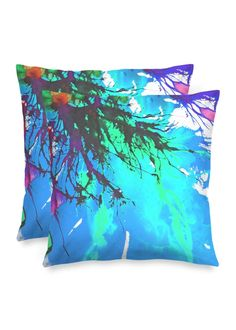 Blossoming 10-c - Square Pillow by Eliora BOUSQUET Accent Pillows, Throw Pillows, Black Garden, Decoration, Pillow Covers, Creations, Abstract, Artwork, Design