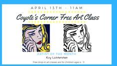 Kids Art Class, Art For Kids, Coyote S, Roy Lichtenstein, Marketing, Children, Google, Artist, Free
