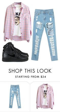 """12-16-15"" by imjustsayingg ❤ liked on Polyvore featuring NIKE"