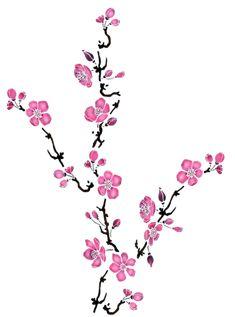 mod le d 39 un tatouage de branche de cerisier en fleur id es tatouages pinterest. Black Bedroom Furniture Sets. Home Design Ideas