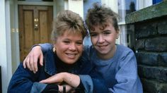 Sharon Watts and Michelle Fowler - oldie but goodie. Soap Stars, Bbc, Nostalgia, Tv Shows, Actors, Soaps, Couple Photos, People, Addiction