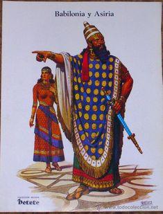 HISTORIA DEL TRAJE-BABILONIA Y ASIRIA -PÁGINA COLECCIONABLE REVISTA…