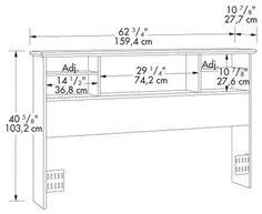 free bookcase headboard plans   DIY projects   Pinterest