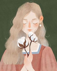 Back to retro: Blossom: women and flowers by the poetic and delicate line of ill. - Back to retro: Blossom: women and flowers by the poetic and delicate line of illustrator Ashui – - Art And Illustration, Illustration Design Graphique, Illustration Mignonne, Portrait Illustration, Character Illustration, Watercolor Illustration, Food Illustrations, Art Anime Fille, Anime Art Girl